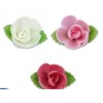 Roses en papier alimentaire