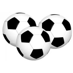 Ballon de foot sur papier azyme Ø 4 cm