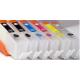 PGI580/CLI581XXL: 6 cartouches rechargeables avec puces à USAGE UNIQUE