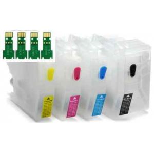 LC3219: 4 cartouches rechargeables + puces à usage unique