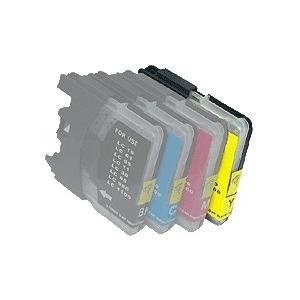cartouche compatible pour Brother Nr. LC980 couleur au choix