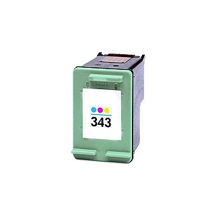 cartouche compatible remplie pour HP Nr. 343, 3 couleurs