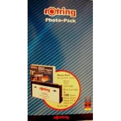 Cartouche compatible pour Epson T5570, 6 couleurs + 100 cartes photo