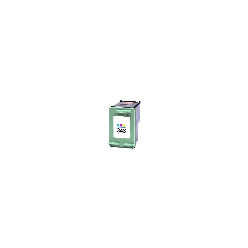 Cartouche remplie pour HP 343 3 couleurs
