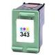Cartouche compatible remplie pour HP 343, 3 couleurs