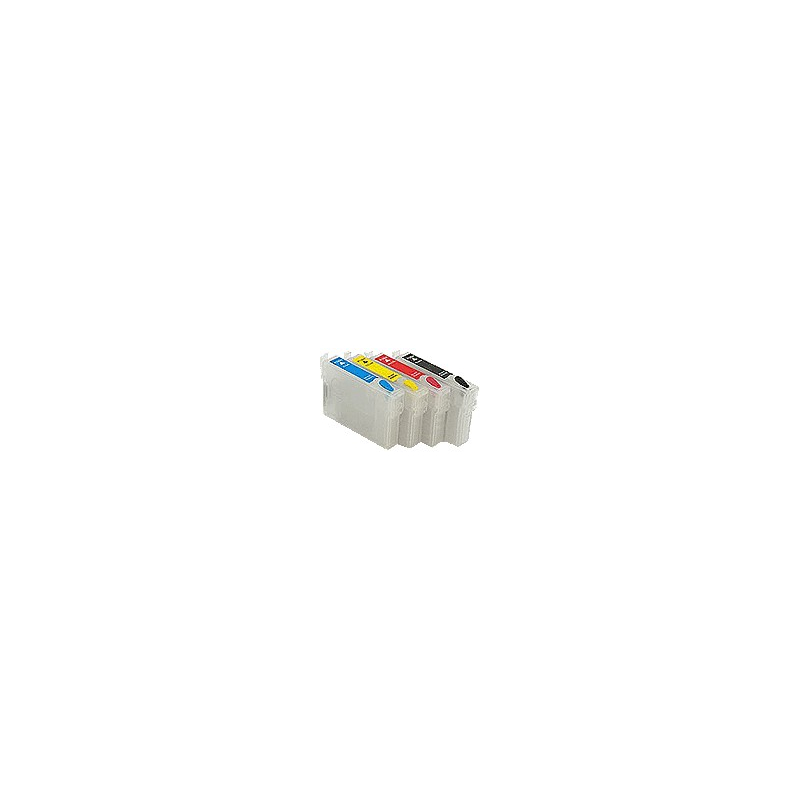 D68 4 cartouches vides avec puce autoReset série TO61