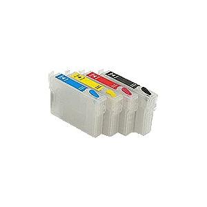 T0711 à 714: lot de 4 cartouches vides avec puce auto-reset