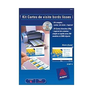 80 cartes de visite recto/verso mat 85x54 mm