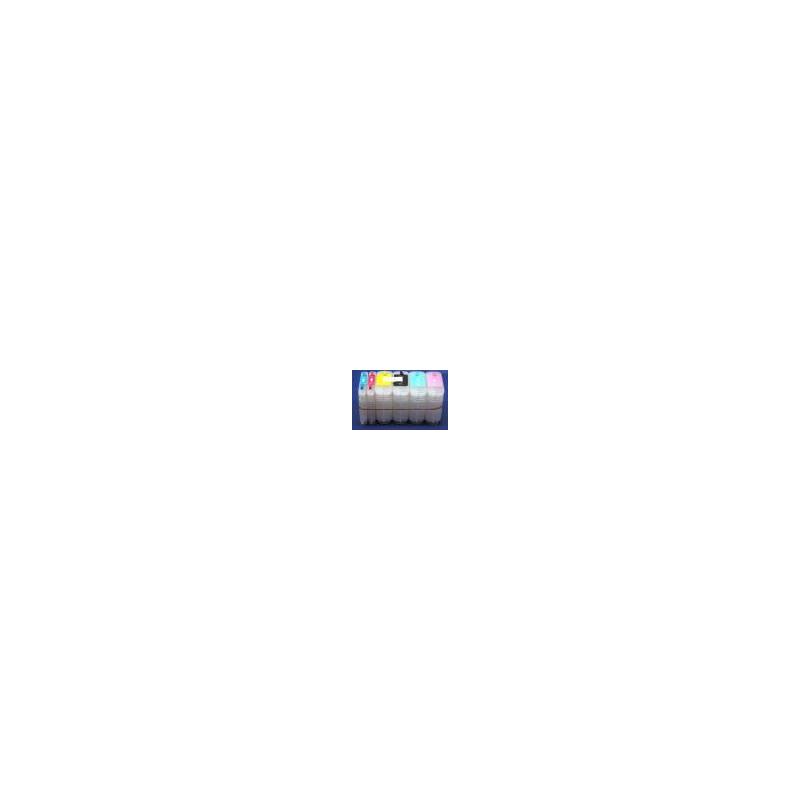 HP11: 6 cartouches compatibles rechargeables vides avec puces autoreset