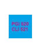 Cartouches vides et puces autoreset pour cartouches PGI520 et CLI521