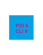 Cartouches vides et puces autoreset pour cartouches PGI5 et CLI8